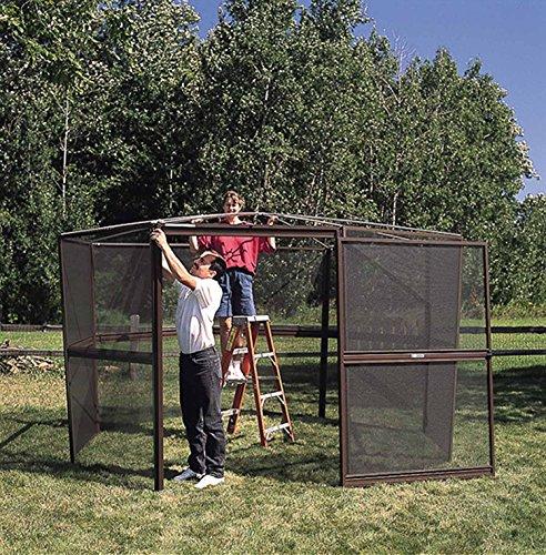 Casita 12 panel square screenhouse 21122 white with gray for Casita plans for backyard