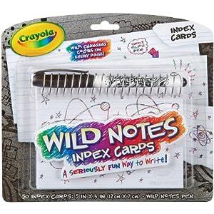Crayola Wild Notes Index Cards
