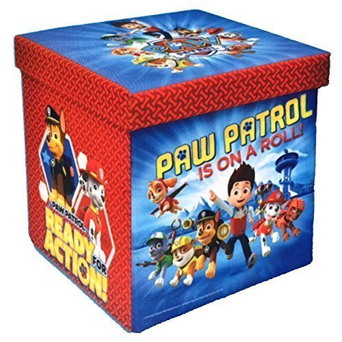 Paw Patrol Kids Toy Organizer Bin Children S Storage Box: PAW PATROL Foldable Storage Ottoman