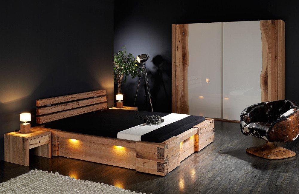 Massivholzbett Walküre – rustikales Designerbett, Größe:180x200cm kaufen