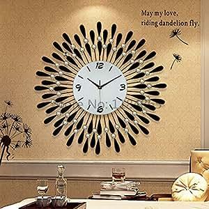 living room fashion wall clock quiet decorative clock free shipping