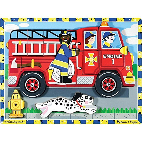 Melissa & Doug Fire Truck Chunky Puzzle - 3721 front-150000