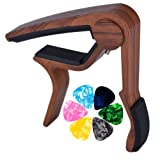 Muse Musical Wooden Color Guitar Capo for Acoustic Guitar,Electric Guitar,Bass,Ukulele(Rosewood Color) (Color: rosewood)