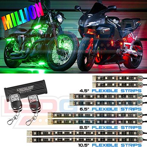 8Pc Advanced Million Color Smd Led Flexible Motorcycle Kit