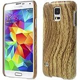 iProtect Schutzh�lle Samsung Galaxy S5 Hard Case Holz Optik braun