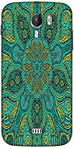 Snoogg ornamental lace pattern Designer Protective Back Case Cover For Micromax A116