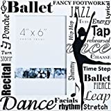 Ballet Collection 8 by 8-Inch Roman Exclusive All Dance Decorative Photo Frame, Holds 4-Inch by 6-Inch Photo