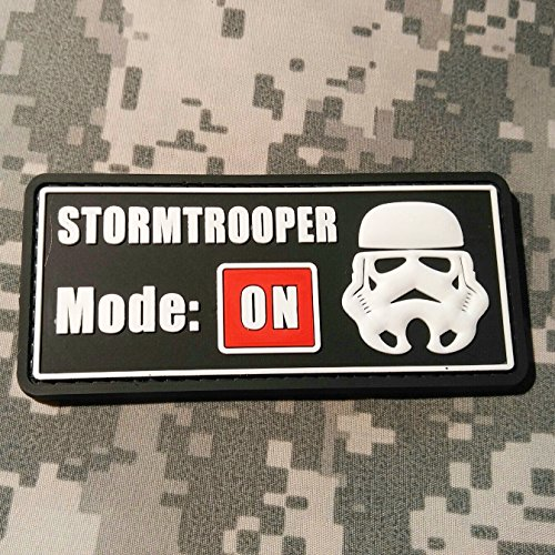 Stormtrooper Mode On - PVC Morale Patch, Hook Velcro Sewn on back, Morale Patch by NEO Tactical Gear (Imperial Flight Suit compare prices)