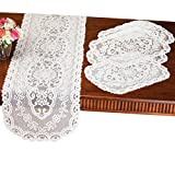 Collections Etc Kitchen Table Lace Runner & Placemats - 5 Pc by Collections Etc