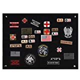 FaithHeart Tactical Morale Velcro Patch Holder, Pactch Wall Display Board Patch Display Poster Frame, Military Patch Board Hook Loop Backing Patch Storage Holder 60 x 45 cm (Color: Velcro Patch Holder 60 cm x 45 cm)