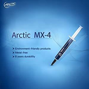 ARCTIC MX-4 - Thermal Compound Paste For Coolers | Heat Sink Paste | Composed of Carbon Micro-particles | Easy to Apply | High Durability - 4 Grams (Color: 1 pack, Tamaño: 4 g)