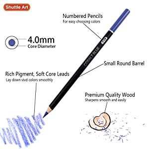 80 Colors Professional Colored Pencils, Shuttle Art Soft Core Pencil Set with 1 Coloring Book,1 Sketch Pad, 2 Sharpener, 1 Pencil Extender, Perfect Set for Artists Adult Beginners (Color: 80 Colors Pencil Set)