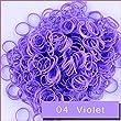 Kirinstores (TM) 600 PCS 24 Clips Bands Refills for Loom Rainbow Bracelet Dress Making (04 Violet)