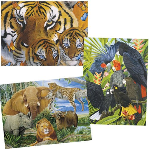 Mother and Cubs - 1,000 piece jigsaw puzzle - Wildlife Series - 30008-3
