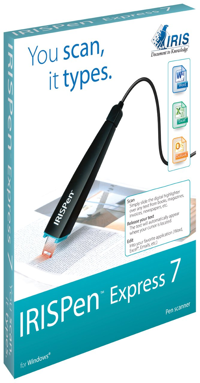 IRISPen 7 Express Portable and USB-powered Digital Pen Scanner with Over 30 different Language Speech Synthesis