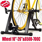 Popamazing Foldable Bike Turbo Trainer Stand Indoor Variable Speed Exercise, Adjustable Resistance - with small Fixing Tools