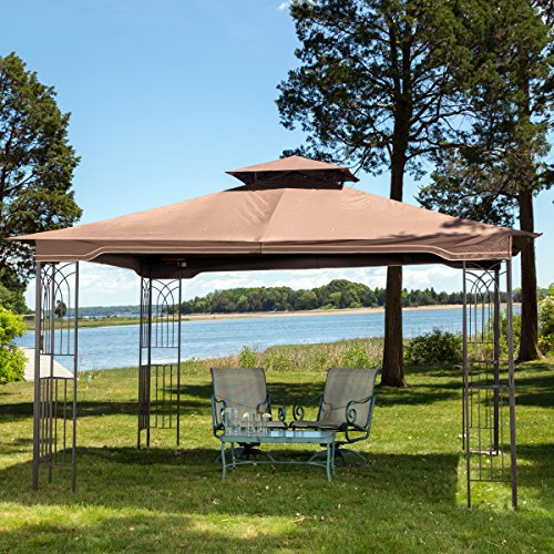 10 x 12 regency ii patio gazebo with mosquito netting for Outdoor furniture gazebo
