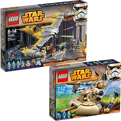 Lego Star Wars 2er Set 75092 75080 Naboo Starfighter + AAT - Lego ...