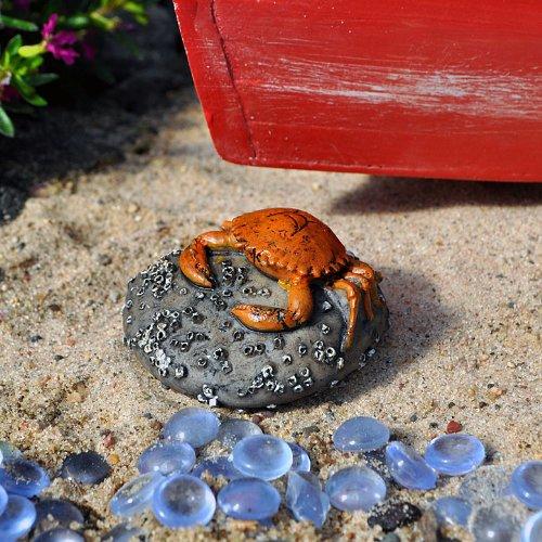 Miniature Fairy Garden Crab on a Rock