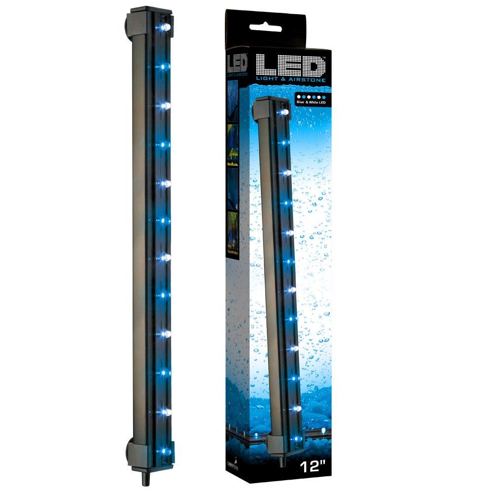 Lights and airstone aquarium 12 inch blue white led air - Aquarium wand ...