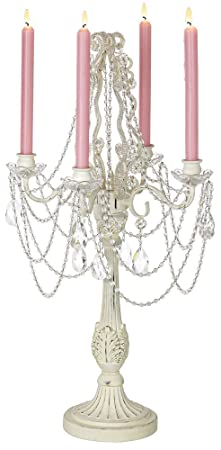 Antique White Taper Candle Four-Arm Candelabra Image by Universal Lighting and Decor