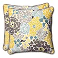 Pillow Perfect Outdoor Full Bloom Throw Pillow, 18.5-Inch, Set of 2 from Pillow Perfect