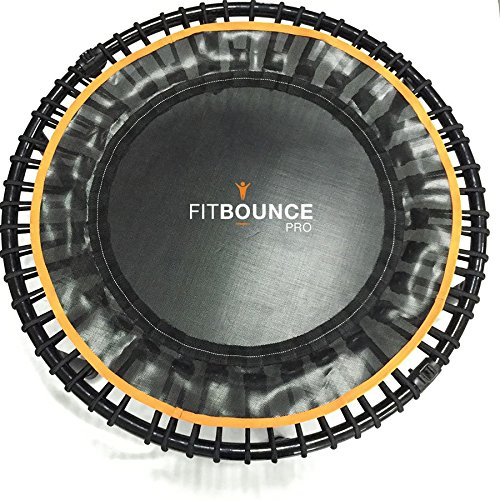 FIT-BOUNCE-PRO-Best-Seller-Half-Folding-High-Quality-Quietest-Bungee-Sprung-Mini-Trampoline-plus-2-Workouts-and-Music-Storage-Bag-and-Bounceometer-to-Measure-Bounces
