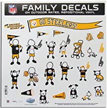 NFL Large Family Car Decal Sheets  ColorPittsburgh Steelers by Siskiyou