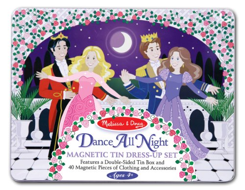 Melissa & Doug Dance All Night Magnetic Tin Dress-Up Set