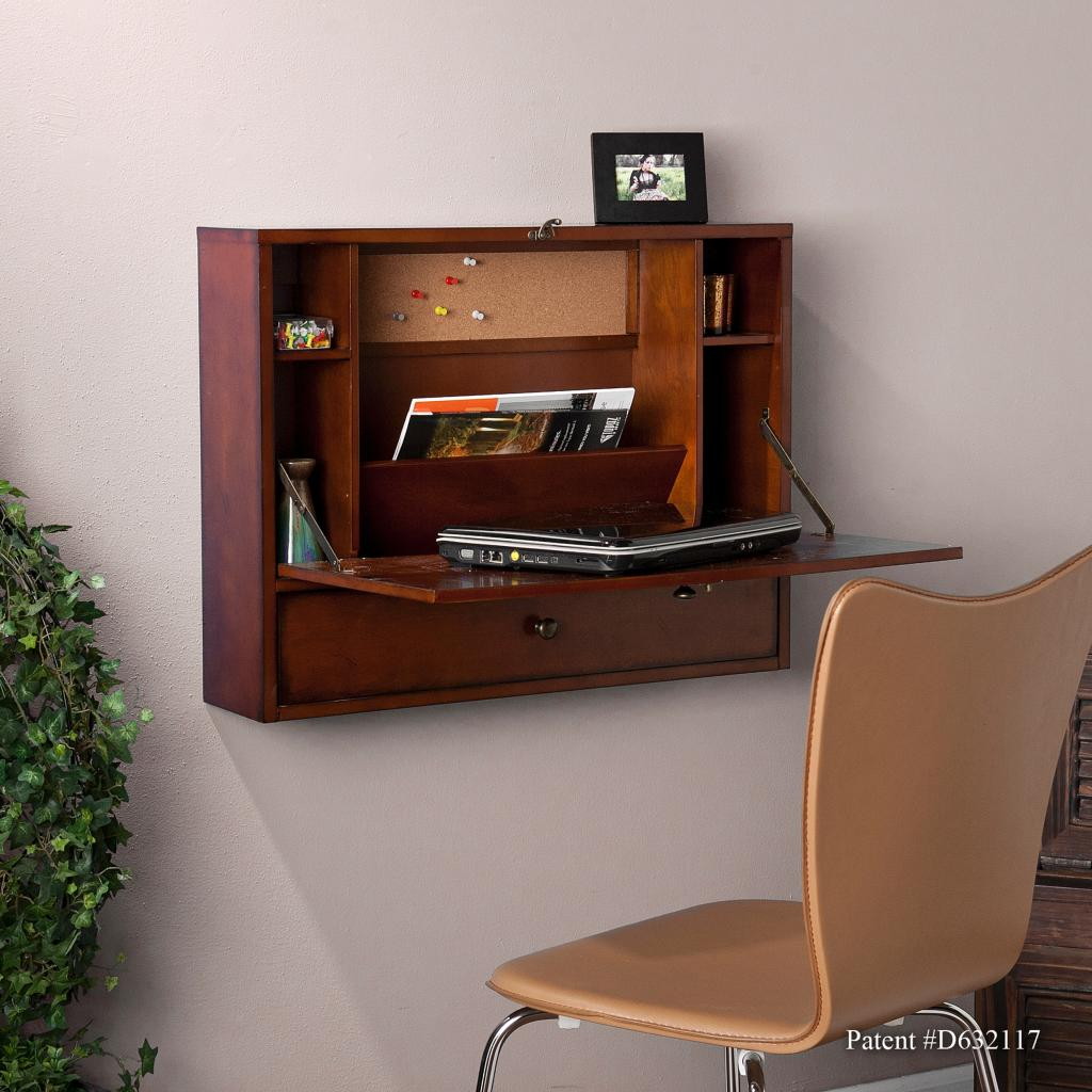 Amazon.com - SEI Wall Mount Laptop Desk, Brown Mahogany - Home Office