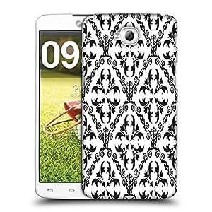 Snoogg Grey Pattern Design Designer Protective Phone Back Case Cover For LG G Pro Lite