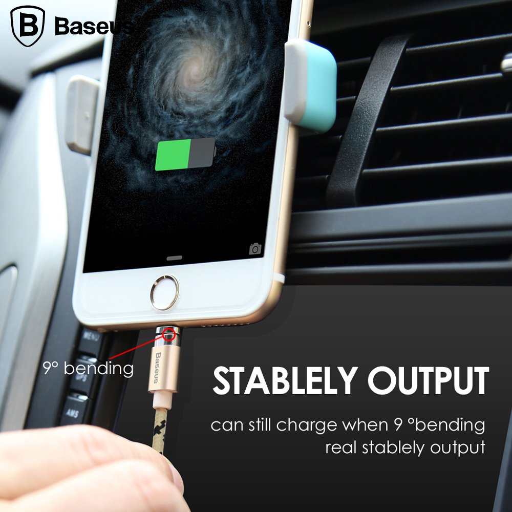 61wnpWerqCL._SL1000_ Baseus Insnap 1M Braided Magnetic 2.4A Quick Charge & Data Sync Micro USB
