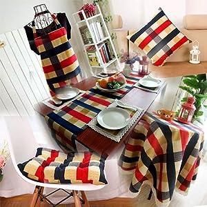 Amazoncom European Blue Grid Vintage Home Decor Kitchen