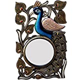 Ghanshyam Art Wood Peacock Wall Mirror (30.48 Cm X 4 Cm X 45.72 Cm, GAC084)