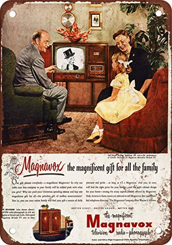 metal-wall-sign-1951-edgar-bergen-for-magnavox-tv-vintage-look-reproduction-metal-tin-sign-wall-post