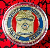 US Secret Service Federal Law Enforcement Colorized Challenge Art Coin
