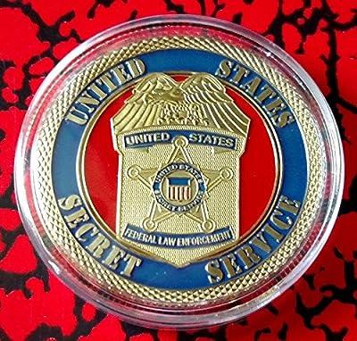 US Secret Service Federal Law Enforcement Colorized Challenge Art Coin