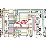 "1958 Chevy Belair Biscayne Delray &; Impala 11"" X 17"" Color Wiring Diagram"