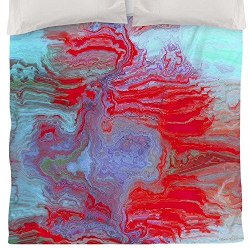 Coral Duvet Cover Queen front-1036022