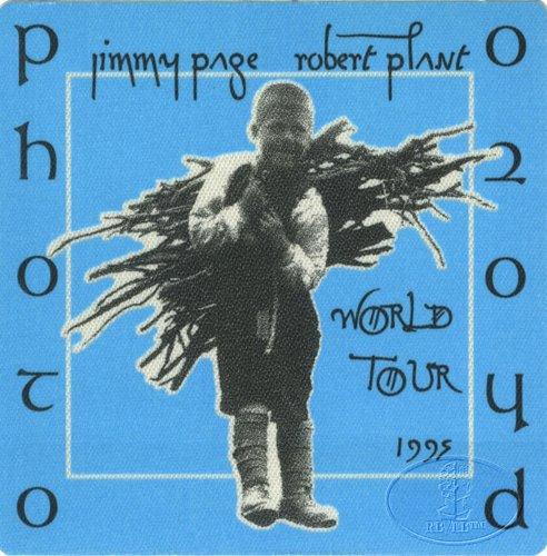 Jimmy Page & Robert Plant 1995 Backstage Pass Photo Blu Led Zeppelin
