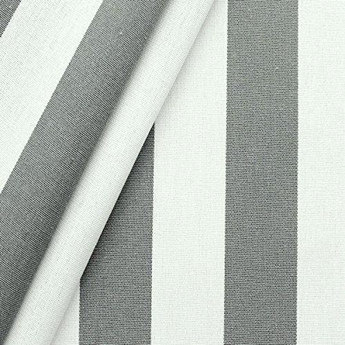 Markisen Outdoorstoff Streifen Breite 160cm Basalt-Grau Weiss