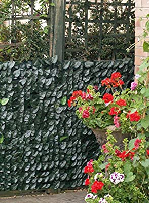 Artificial Hedge Barrier Ivy Leaf Screening Fence Garden Patio Privacy 1.0m x 3m