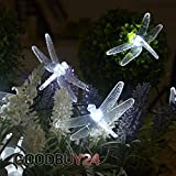 Solar String light solar fairy light with 24 LED Dragonfly White String Fairy Lights Solar Powered For Outdoor, Garden, Patio, Christmas party