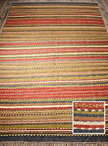 Amazon.com: India Sindi Stripe Jute Rug - 3 Sizes Small: Home ...