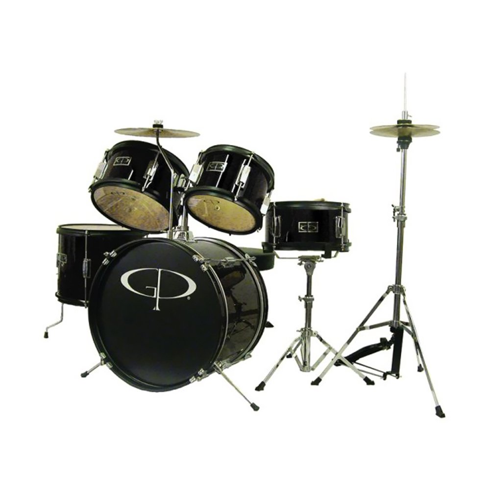 Black Cymbal Set Drum Set With Cymbals And