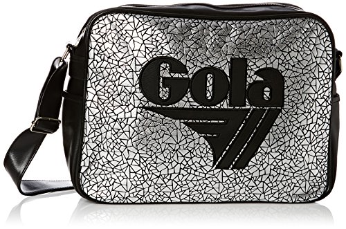 BORSA TRACOLLA GOLA REDFORD metallic geo CUB781 SILVER/BLACK COD. 398
