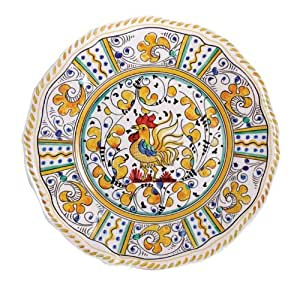 Le Cadeaux Rooster Yellow Melamine Dinnerware | Gracious Style