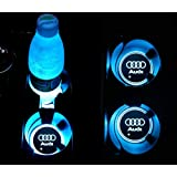 ROCCS Tesla Model 3 LED Cup Holder Logo Coaster Light Luminescent Charging Mat
