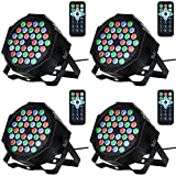 Litake 36LED Par Lights for Stage Lighting with RGB Magic Effect by Remote and DMX Control for Party Show DJ Disco-4 Pack