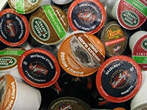 24 Count K-cup Coffee Sampler by Green Mountain, Tully's, Diedrich, Caribou, Donut House